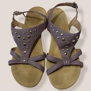Vionic Catarina Sandal Purple Slingback Wedge Heel
